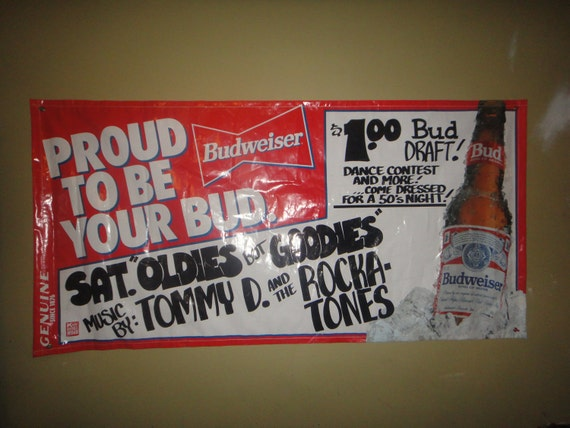 Budweiser Rocking To The Oldies Party Bar Sign