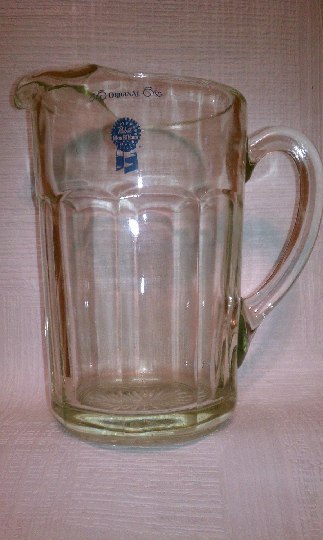 vintage pabst blue ribbon beer pitcher the original. Black Bedroom Furniture Sets. Home Design Ideas