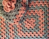 Matching Baby beanie and afghan