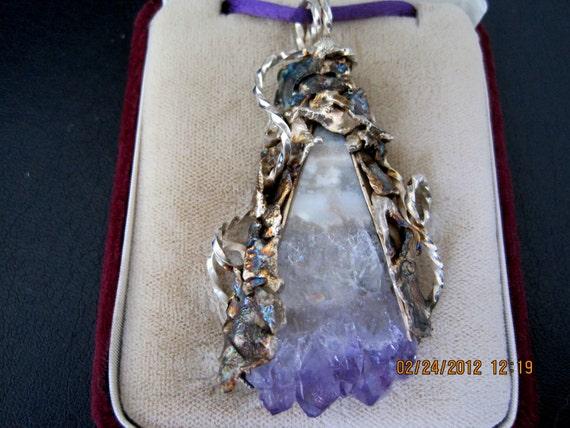 Signed Sterling Amethyst pendant