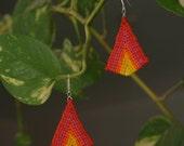 Raspberry Lemonade Triangle Earrings