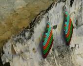 Beets and Carrots Diamond Shaped Earrings