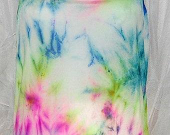Hand Dyed Silk Camisole, Hand Dyed Silk Jersey  Knit Underwear, women's fashion, rainbow