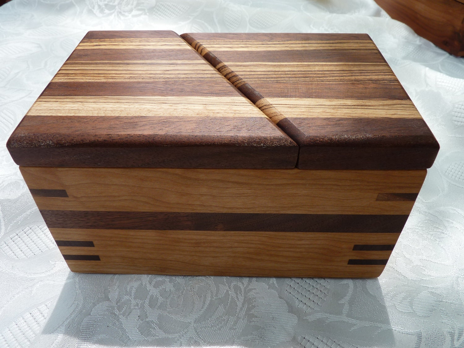 handmade wooden keepsake boxes handcrafted wooden jewelry keepsake box in cherry with swivel 6598