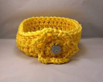 Crochet Yellow Headband Earwarmer