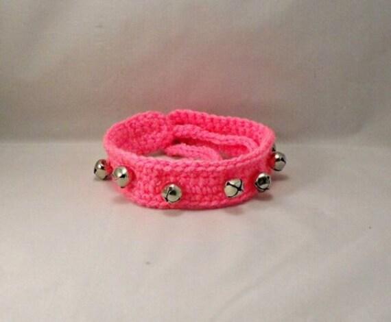 Crochet Pink Jingle Bells Dog/Cat Collar