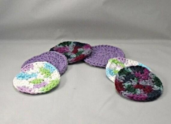 Crochet Lavender Fields Facial Scrubbies