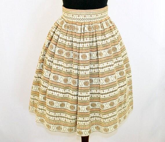 Vintage 60's 1960's Full Skirt MAD MEN XS