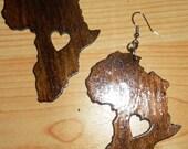 Heart of Africa 3in Earrings