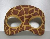 Giraffe Animal Print Leather Mask, Unisex