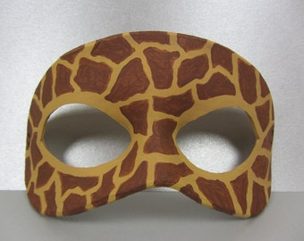 Giraffe Animal Print Leather Mask, Unisex