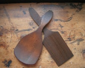 Vintage Pair of Wood Butter Paddles - Kitchen Decor