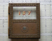 Vintage Brass Post Office Box Door - CopperAndTin