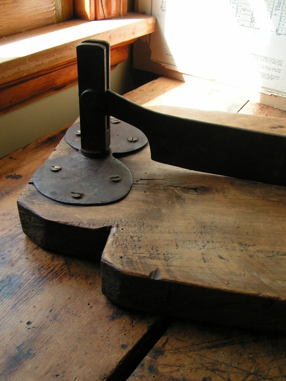 Vintage Industrial Size Cutting Board for making (lots) of Sauerkraut