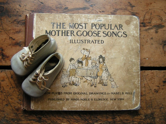 Vintage Book - The Most Popular Mother Goose Songs - Illustrated