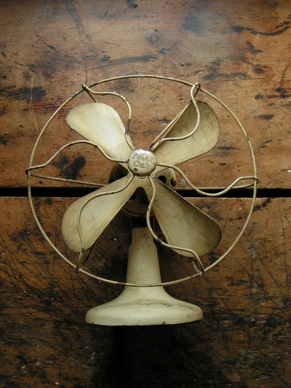 Vintage Tiny Polar Cub Fan, patented 1921