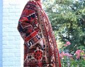 RESERVED - 60s Rich Hippie Carpet Coat Designer Runway Rare OOAK Adele Simpson