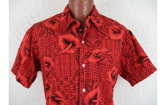 1950s Vintage Men's California Tiki Party Shirt - Lg