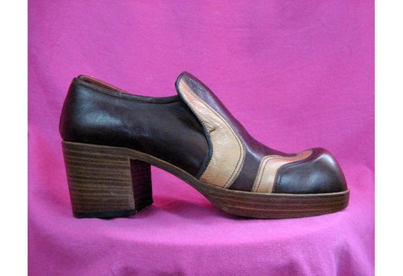 vintage s platform shoes all leather top by paisleybabylon