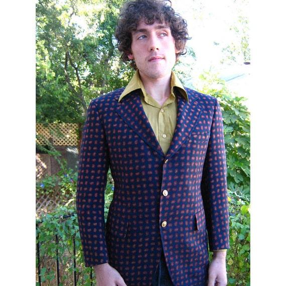 Mod Men's Paisley Blazer Jacket vintage 1960s sexy sporting man 40 42