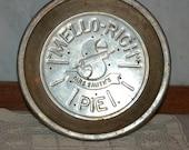 Vintage Mrs. Smith's Mello-Rich Metal Pie Plate