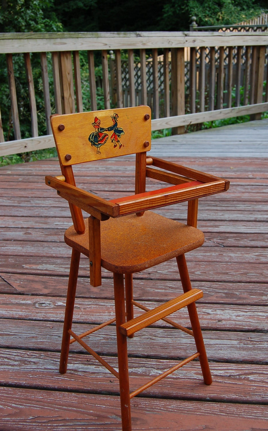 Vintage Doll High Chair From Cass Toys - Antique Doll Chair Antique Collectible Handcrafted Miniature Wicker