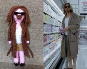 The Big Lebowski Crochet Amigurumi - The Dude with Rug