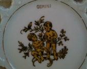 Double Trouble Gemini Vintage 60s mini plate