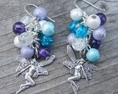 Fairy ice earrings, cluster earrings, winter shades