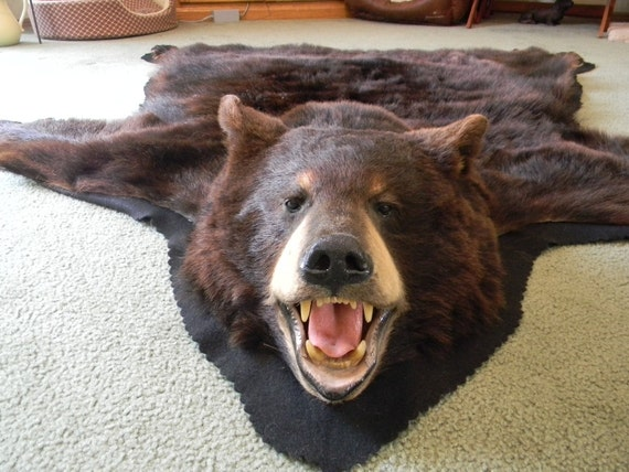 bear skin rug skin rug for jason 31186