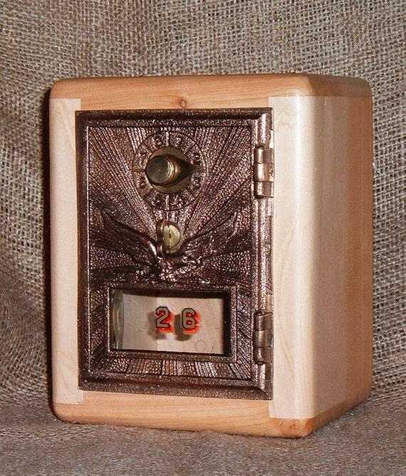 Post Office Bank No 26 - Aromatic  Oregon Juniper Cabinet - 1920 Eagle Door