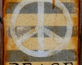 "Peace Work- Winter Blanket Peace- 8 x 10"""