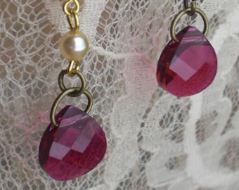 PINK & GLITTERY - Moonfish23  -  Necklace and Matching Earrings