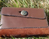 Jasper and Leather Hand-Stitched Journal