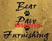 Custom Listing Welcome Sign- Personalized/ Custom- Alaskan Red Cedar Wood
