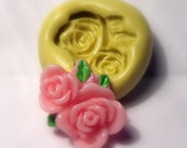 kawaii flower mold- flexible silicone push mold / craft/ dessert/ mini food / soap mold/ resin/jewelry and more..