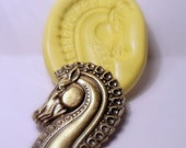 fancy horses head mold- flexible silicone push mold / craft/ dessert/ mini food / soap mold/ resin/jewelry and more...