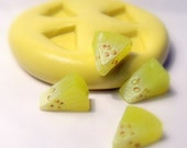 kawaii miniature fruit slices mold- flexible silicone push mold / craft/ dessert/ mini food / soap mold/ resin/jewelry and more.