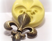 large fleur de lis silicone push mold / craft/ dessert/ mini food / soap mold/ resin/jewelry and more....