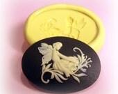 Fairy in garden flexible silicone mold /mould