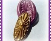 Oval Art Nouveau Flexible Silicone mold / mould
