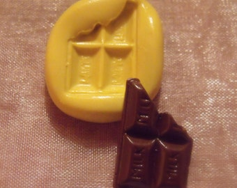 chocolate bar- flexible silicone push mold / craft/ dessert/ mini food / candy / soap mold/ resin/jewelry and more..