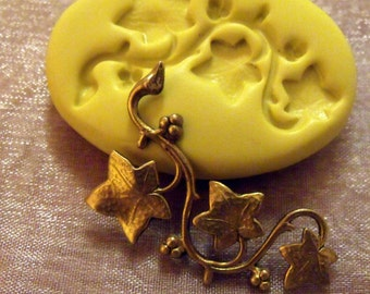 ivy vine- flexible silicone push mold / craft/ dessert/ mini food / soap mold/ resin/jewelry and more..