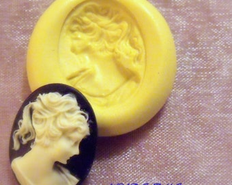 LOVELY VICTORIAN LADY- flexible silicone push mold / craft/ dessert/ mini food / soap mold/ resin/jewelry and more..