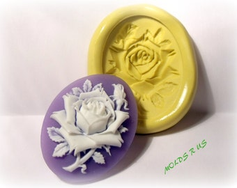kawaii rose cameo mold- flexible silicone push mold / craft/ dessert/ mini food / soap mold/ resin/jewelry and more...