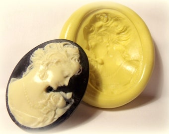 victorian lady mold- flexible silicone push mold / craft/ dessert/ mini food / soap mold/ resin/jewelry and more