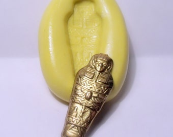 egypt sarcophagus mummy mold - flexible silicone push mold / craft/ dessert/ mini food / soap mold/ resin/jewelry and more.