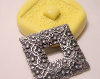 kawaii victorian frame setting mold - flexible silicone push mold / craft/ dessert/ mini food / soap mold/ resin/jewelry and more.