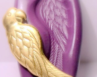 large parrot mold- flexible silicone push mold / craft/ dessert/ mini food / soap mold/ resin/jewelry and more.