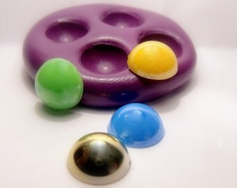 half pearls mold- flexible silicone push mold / craft/ dessert/ mini food / soap mold/ resin/jewelry and more.